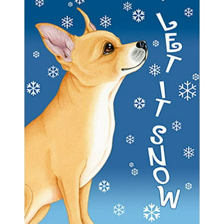Chihuahua Garden Flag - Chihuahua - Best of Breed Let It Snow Garden Flag