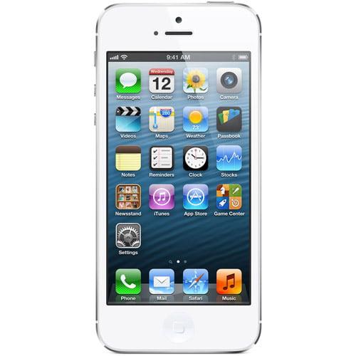Straight Talk Apple iPhone 5 64GB White Prepaid Smartphone w/ Bonus $45 Unlimited Plan