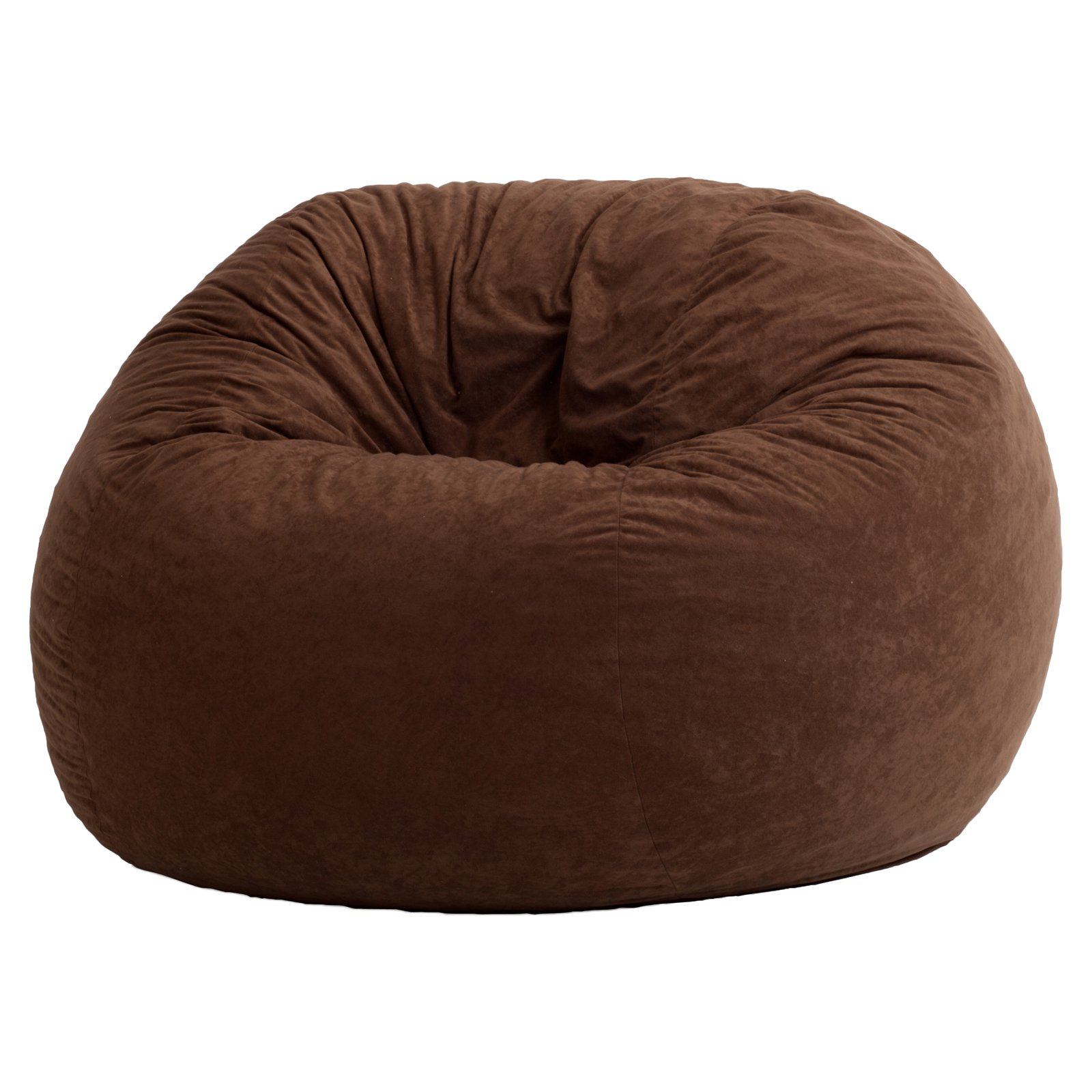 4 Fuf fort Suede Bean Bag Chair Black yx Walmart