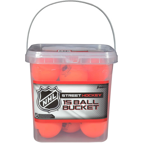 Franklin Sports NHL High-Density Balls, 15-Piece Bucket