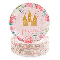 Princess Castle Party Plates 9 Inches (80 Pack)