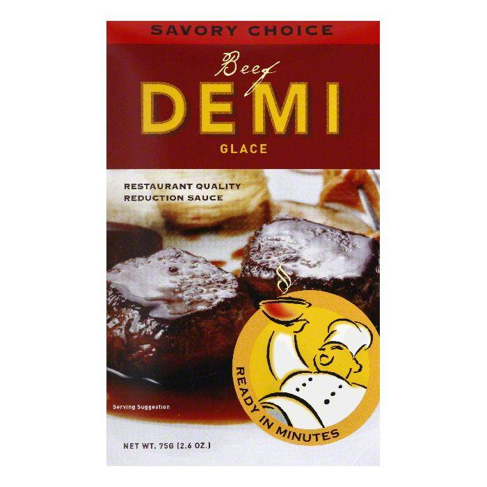 Savory Choice Beef Demi Glace, 2.6 OZ (Pack of 12)