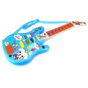 Mini Rock 'N Roll Star Battery Operated Children's Kid's Toy Guitar w/ Lights, Sounds (Blue)