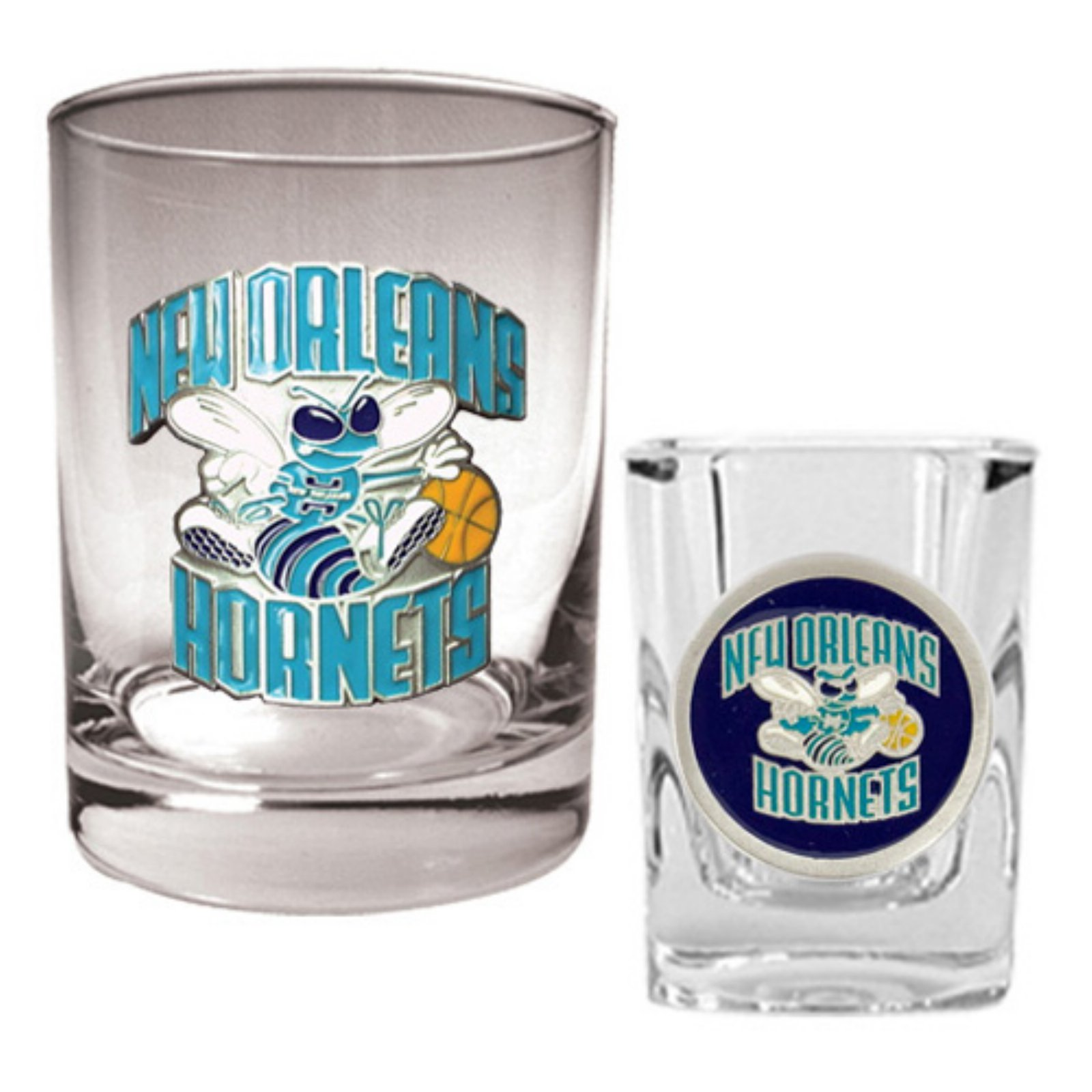 Great American NBA Rocks and Square Shot Glass Set