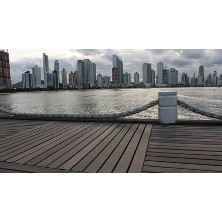 Canvas Print Sea Horizon City Marina Storm Spring Walk Water Stretched Canvas 10 x 14 - Party City Marina