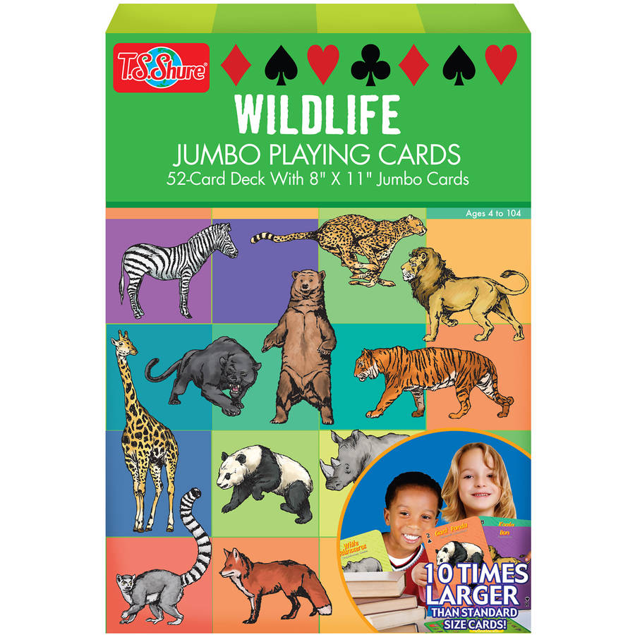 T.S. Shure Wildlife Jumbo Playing Cards by TS Shure