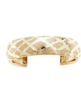 10kt Solid Yellow Gold Adjustable Toe Ring In A Diamond-Cut Design