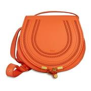 Chloe Mini Marcie Leather Handbag - Mandarin Orange