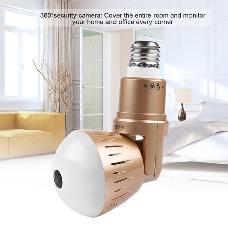 Hilitand 1080P 360°Panoramic HD WiFi Camera IP Light Bulb Home Security Video Cam Video Light Bulb