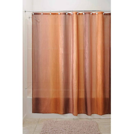 Solid Color Fabric Shower Curtain - InterDesign Ombre Fabric Shower Curtain, Standard 72