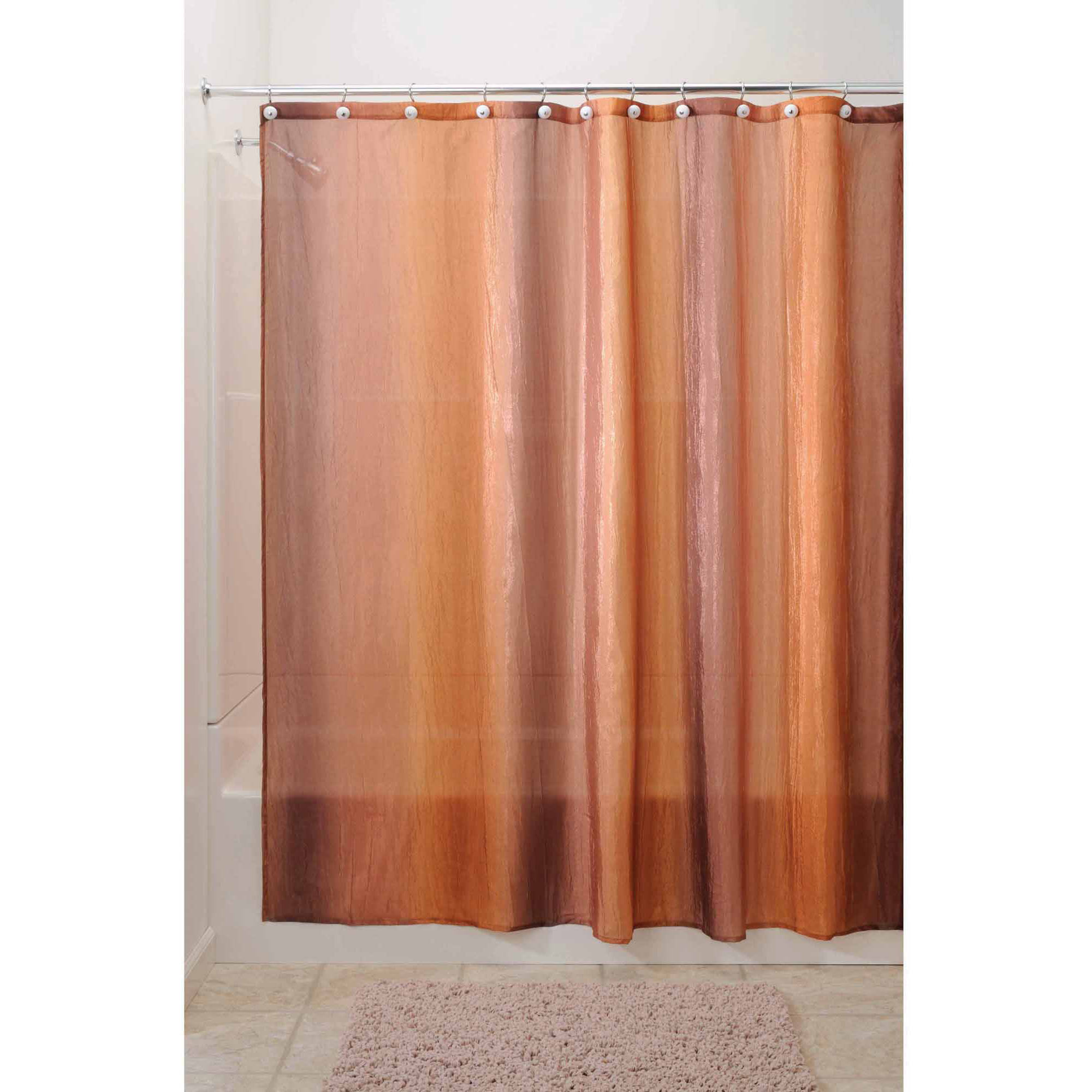 InterDesign Ombre Fabric Shower Curtain, Various Colors