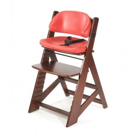 Keekaroo Height Right Kids Chair w/ Comfort Cushion- Mahogany -