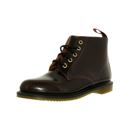Dr. Martens Women's Emmeline 5-Eye Leather Cherry Red Rogue High-Top Rubber Boot - 11M for $<!---->