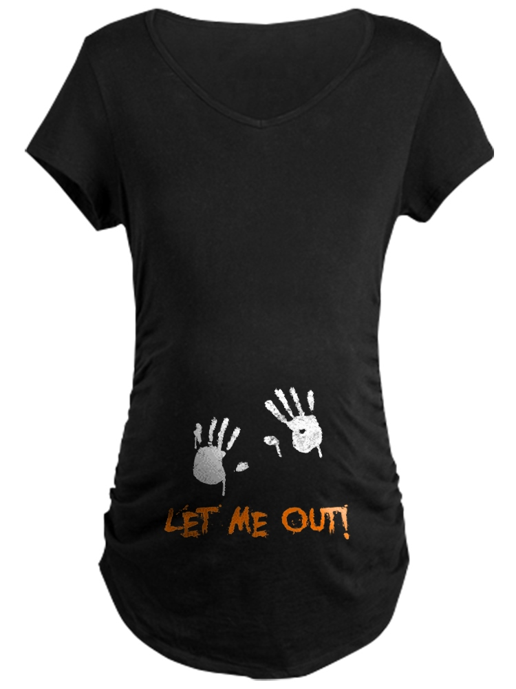 Maternity Let me Out Hands Graphic Tee