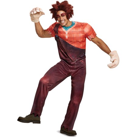 Wreck It Ralph Halloween (Adult's Mens Deluxe Wreck It Ralph Costume Medium)