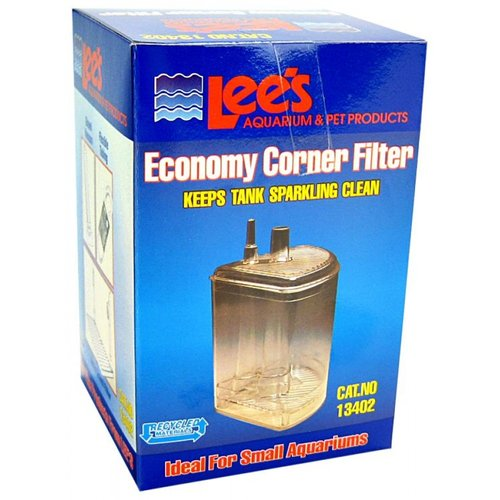 Lee's Economy Corner Filter for Small Aquariums Corner Filter - (Up to 10 Gallons)