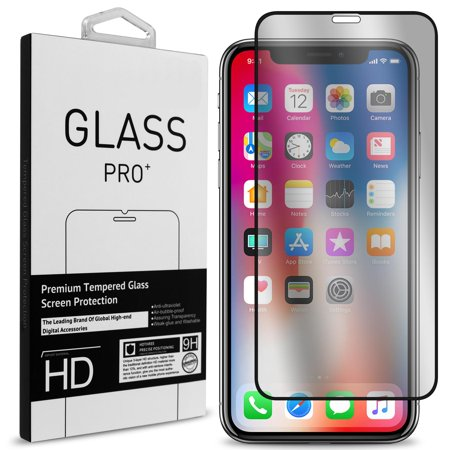 """CoverON Apple iPhone XS Max (6.5"""") Tempered Glass Screen Protector - InvisiGuard Series Full Coverage 9H with Faceplate (Case Friendly)"""