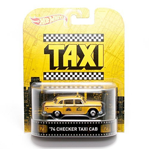 Hot Wheels 1:64 Scale Retro Entertainment Taxi 1974 Checkers Taxi Cab by Hot Wheels