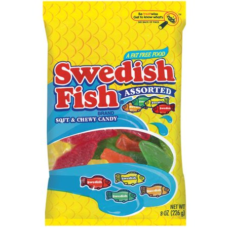 Swedish fish assorted soft chewy candy 8 oz for Swedish fish jelly beans