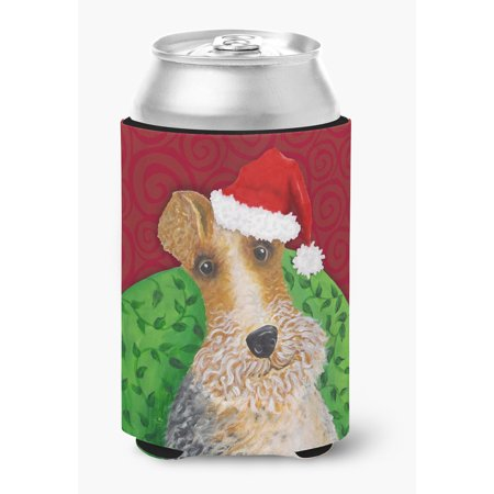 Wire Fox Terrier Christmas Can or Bottle Hugger VHA3040CC