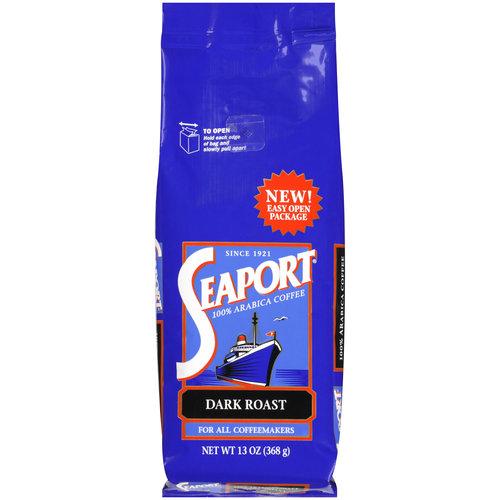 Seaport 100% Arabica Dark Roast Coffee, 13 oz