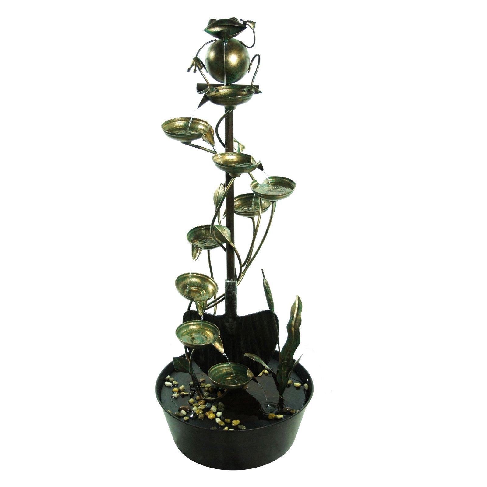 Bronze Frog Metal Tiering Fountain by Alpine Corporation