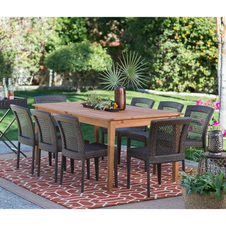 Belham Living Brisbane Outdoor Wood Extension Patio Dining Set ()