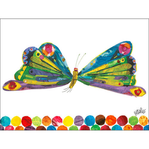 Oopsy Daisy - Eric Carles Butterfly Canvas Wall Art 24x18, Eric Carle