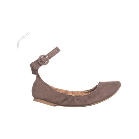 MG35 Francy Ankle Strap Ballet Flats, Taupe - image 5 of 6