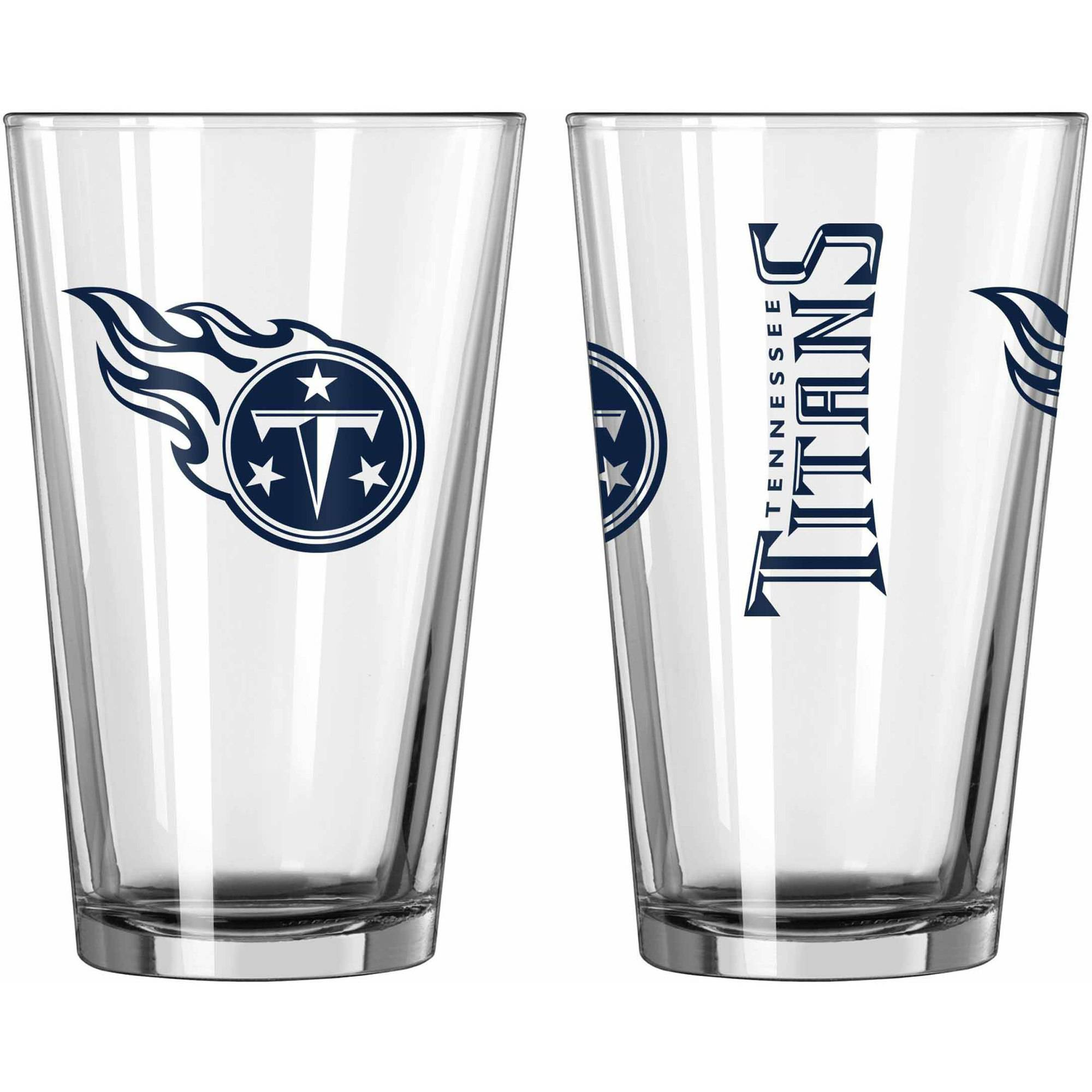 Boelter Brands NFL Set of Two 16 Ounce Game Day Pint Set, Tennessee Titans