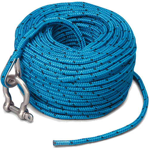 Trac Anchor Rope, 5mm x 100' With Stainless Steel Shackle
