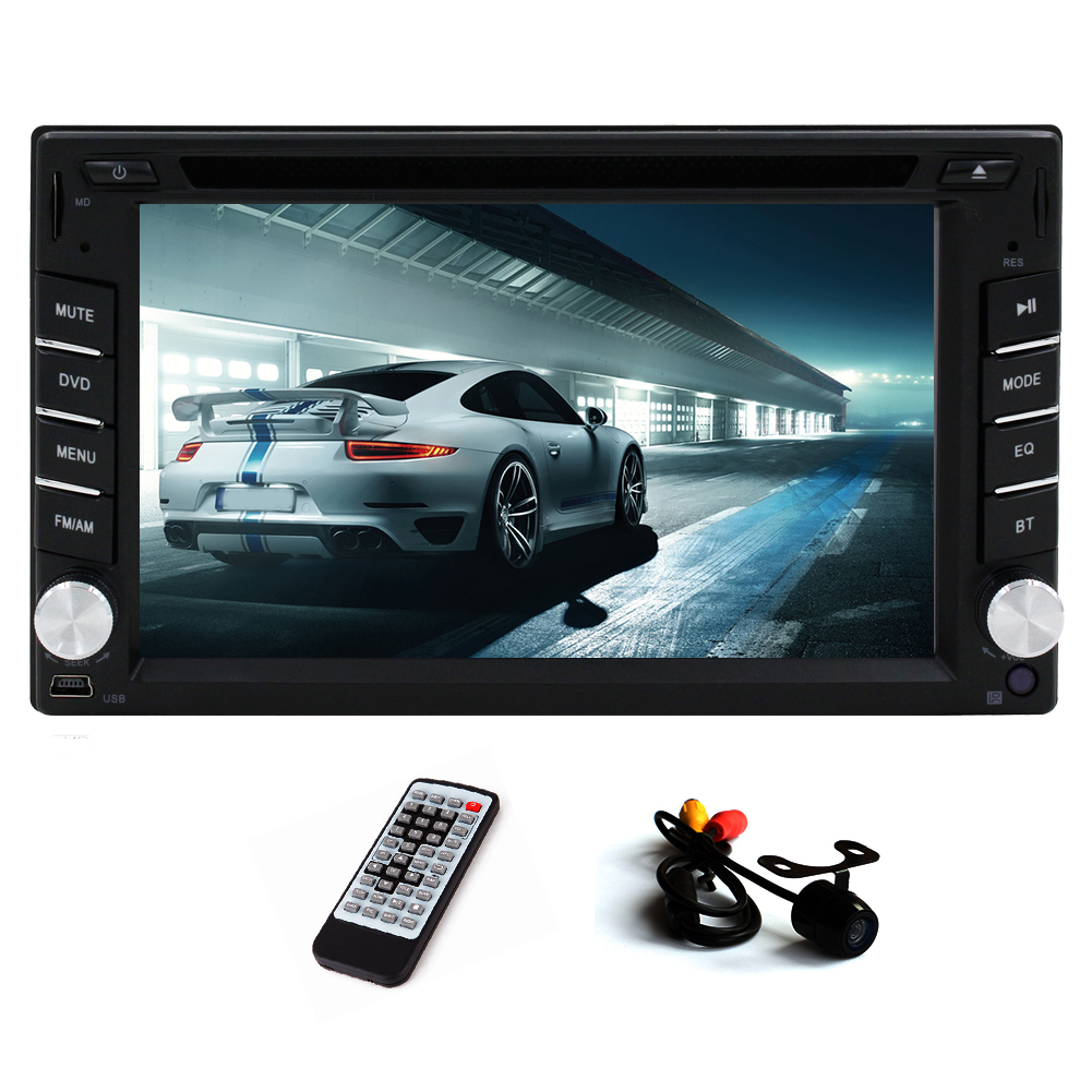 Double Din Audio Monitor USB SD FM AM Bluetooth Car Stere...