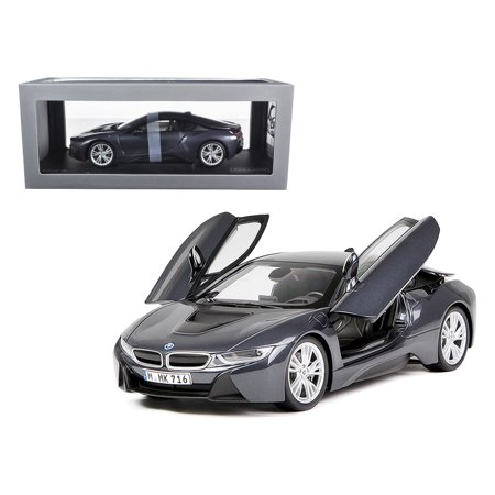 BMW i8 Sophisto & Frozen Grey 1/18 Diecast Model Car by Paragon - Frozen Cards
