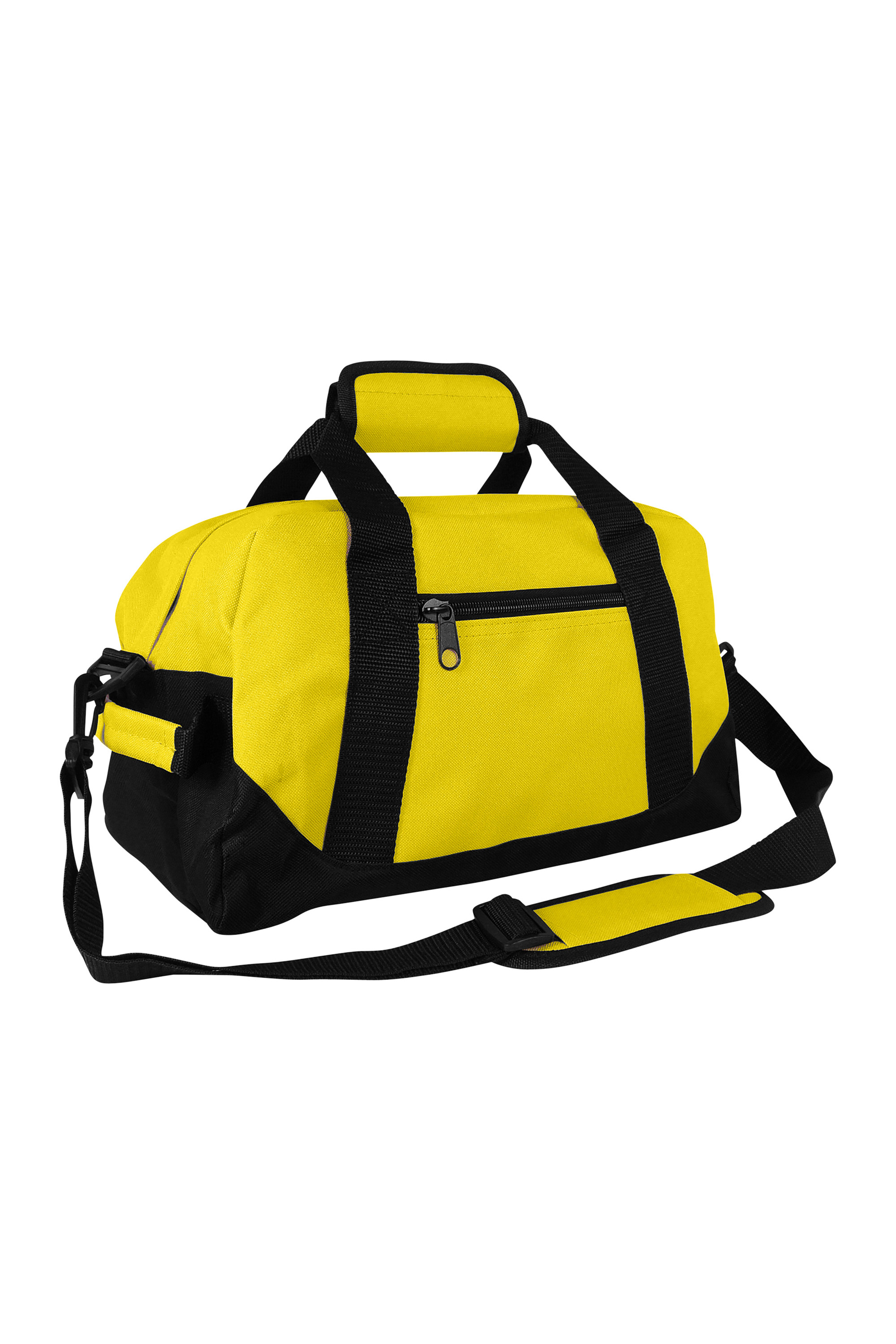 """DALIX 14"""" Small Duffel Bag Gym Duffle Two Tone in Black with Shoulder Strap"""