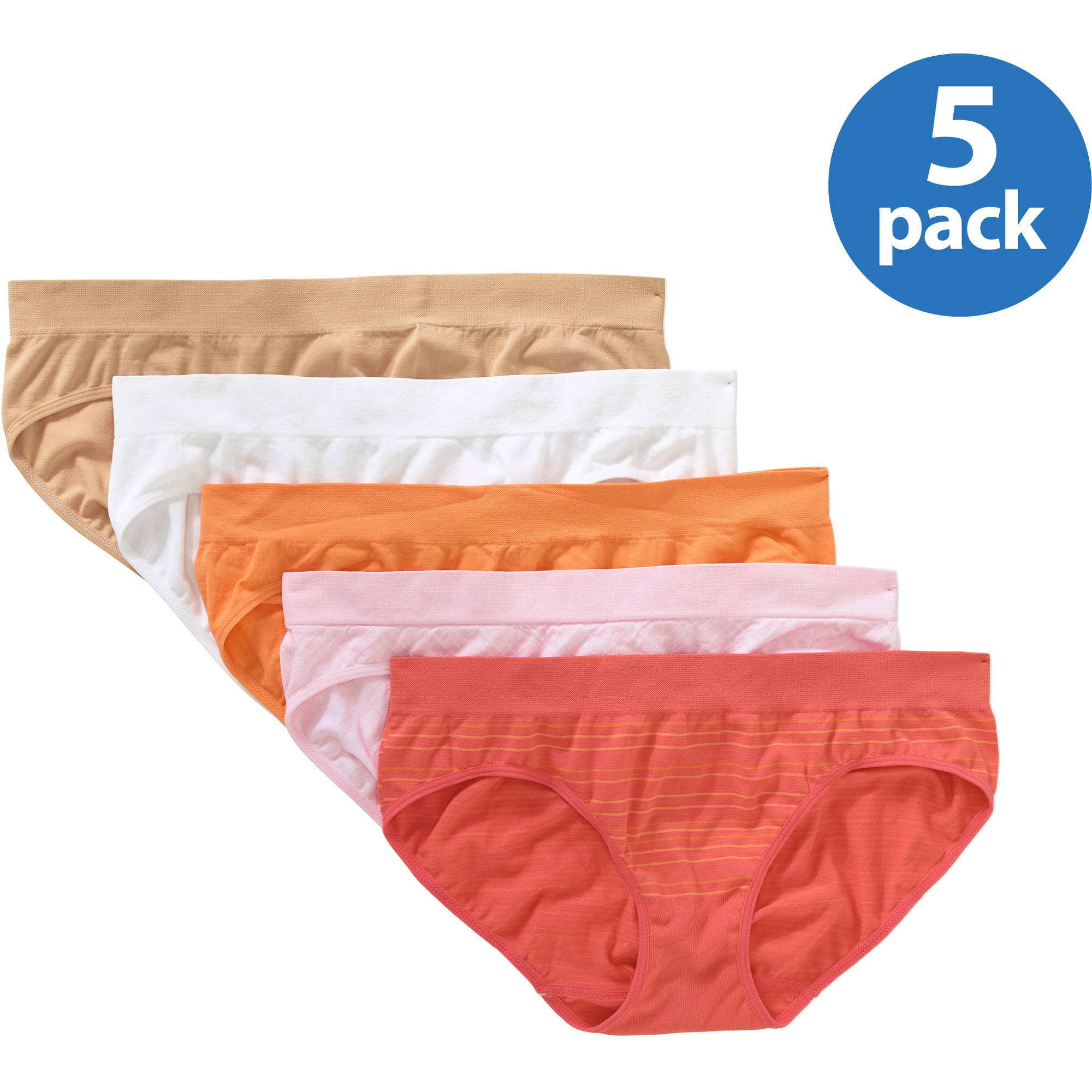 Secret Treasures Women's Seamless Bikini Panty - 5 Pack