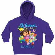 Personalized Dora the Explorer We Did It Little Girls' Purple Hoodie