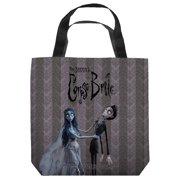 Corpse Bride Bride And Groom Tote Bag White 9X9