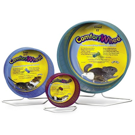 Super Pet Chinchilla Giant Comfort Exercise Wheel, Colors Vary Multi-Colored