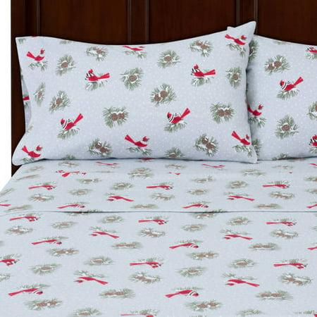 mainstays flannel bedding sheet set