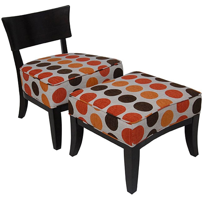 Carolina Accents Metro Chair and Ottoman Set