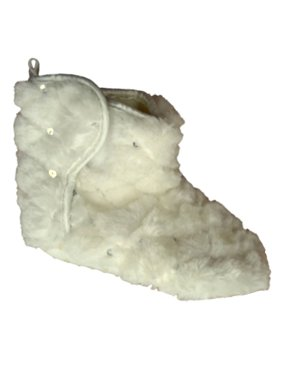 Infant & Toddler Girls Ivory Sequin Slippers Faux Fur Bootie House Shoes