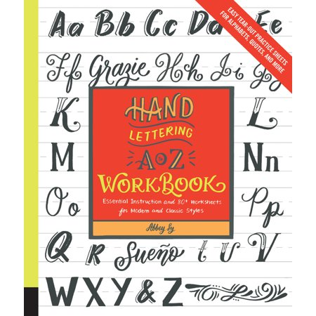 Hand Lettering A to Z Workbook : Essential Instruction and 80+ Worksheets for Modern and Classic StylesEasy Tear-Out Practice Sheets for Alphabets, Quotes, and - Halloween Worksheets For Students