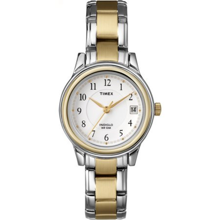 Timex Womens Porter Street Watch  Two Tone Stainless Steel Bracelet