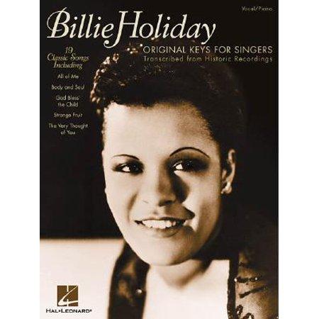 Billie Holiday - Original Keys for Singers : Transcribed from Historic Recordings