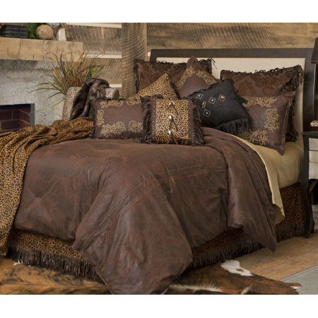Carstens Gold Rush Faux Leather Comforter Set, King