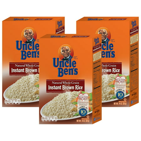 (3 Pack) UNCLE BEN'S Whole Grain Instant Brown Rice,