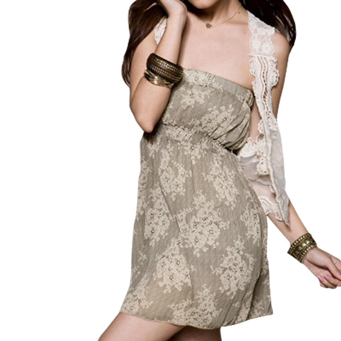 Unique Bargains Girl US L Chiffon Inner Lining Off Shoulder Tube Dress - image 1 de 1