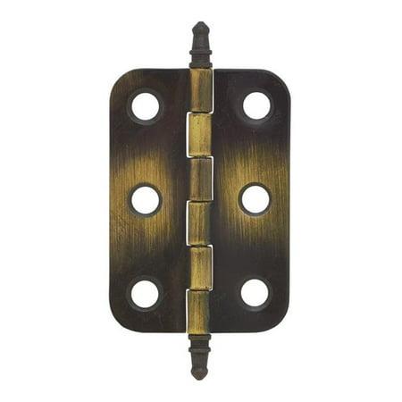 Amerock 5012645 2.68 in. Antique Brass Steel Door Hinge - Pack of 2