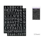 Multicraft Sticker Font Chalk Effects Lg Caps Wht