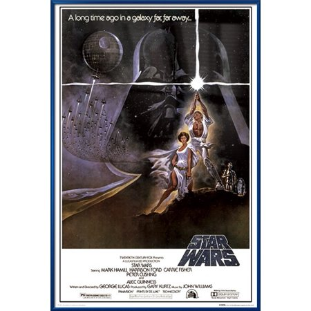 Five Star 36' Natural - Star Wars: Episode IV - A New Hope - Framed Movie Poster / Print (Regular Style A) (Size: 24